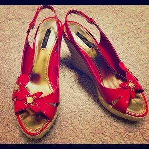Authentic Louis Vuitton wedge sandals US 8.5